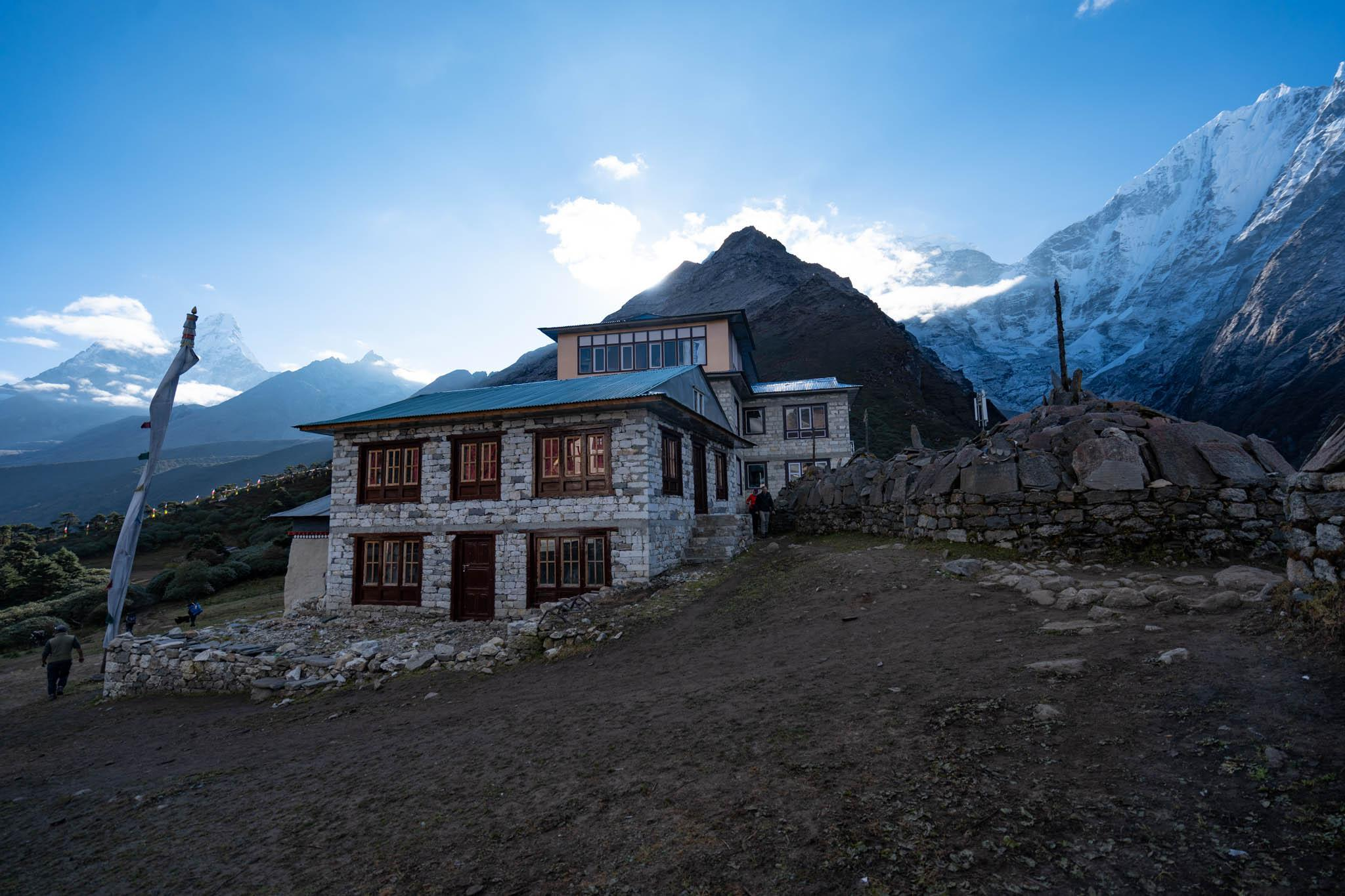 A Nepalese teahouse on the Everest trail