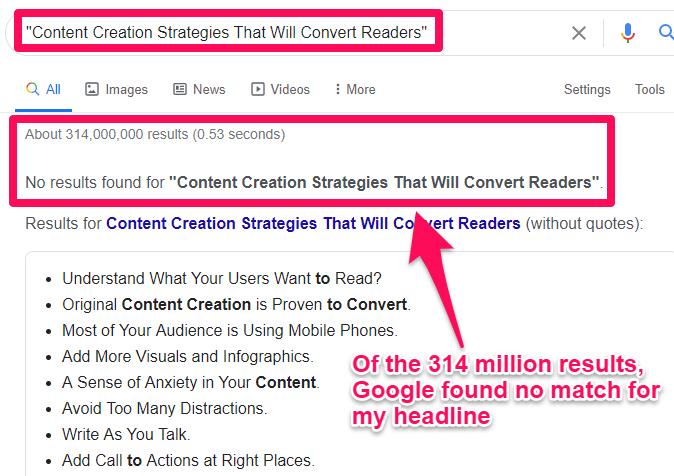 content creation strategies headline