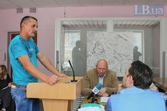 Степан Садовський під час засідання