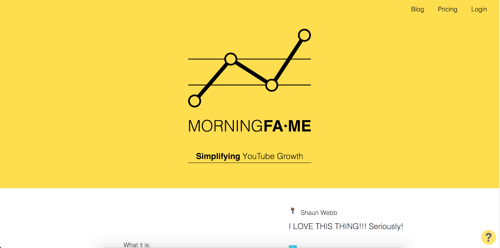 Top Marketing Tool Example #11 - Morningfa.me | 16 Powerful Marketing Tools You Haven't Considered (But Probably Should)