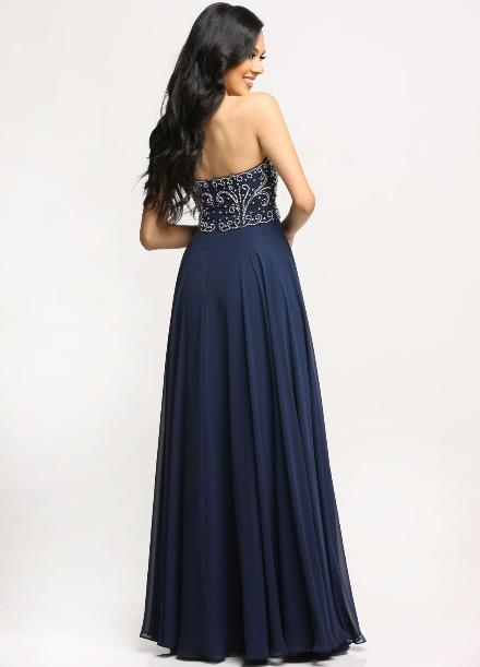Image showing back view of style #71690