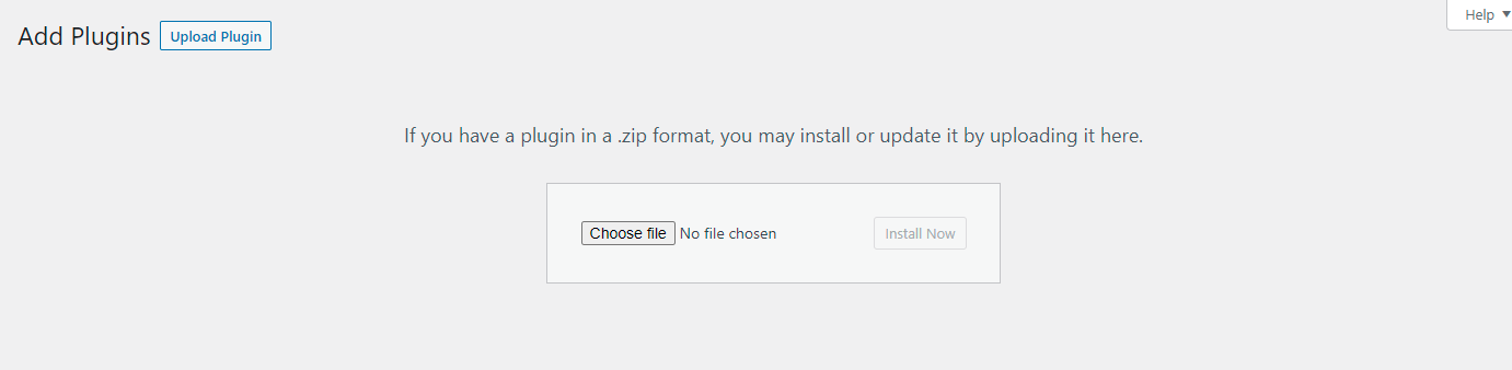 Upload reorder plugin button