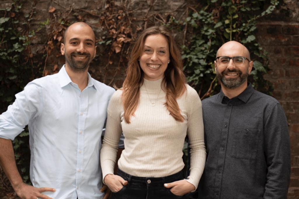 Das Gründerteam: Yasha Tarani, Lara Obst und Dr. Rey Farhan.