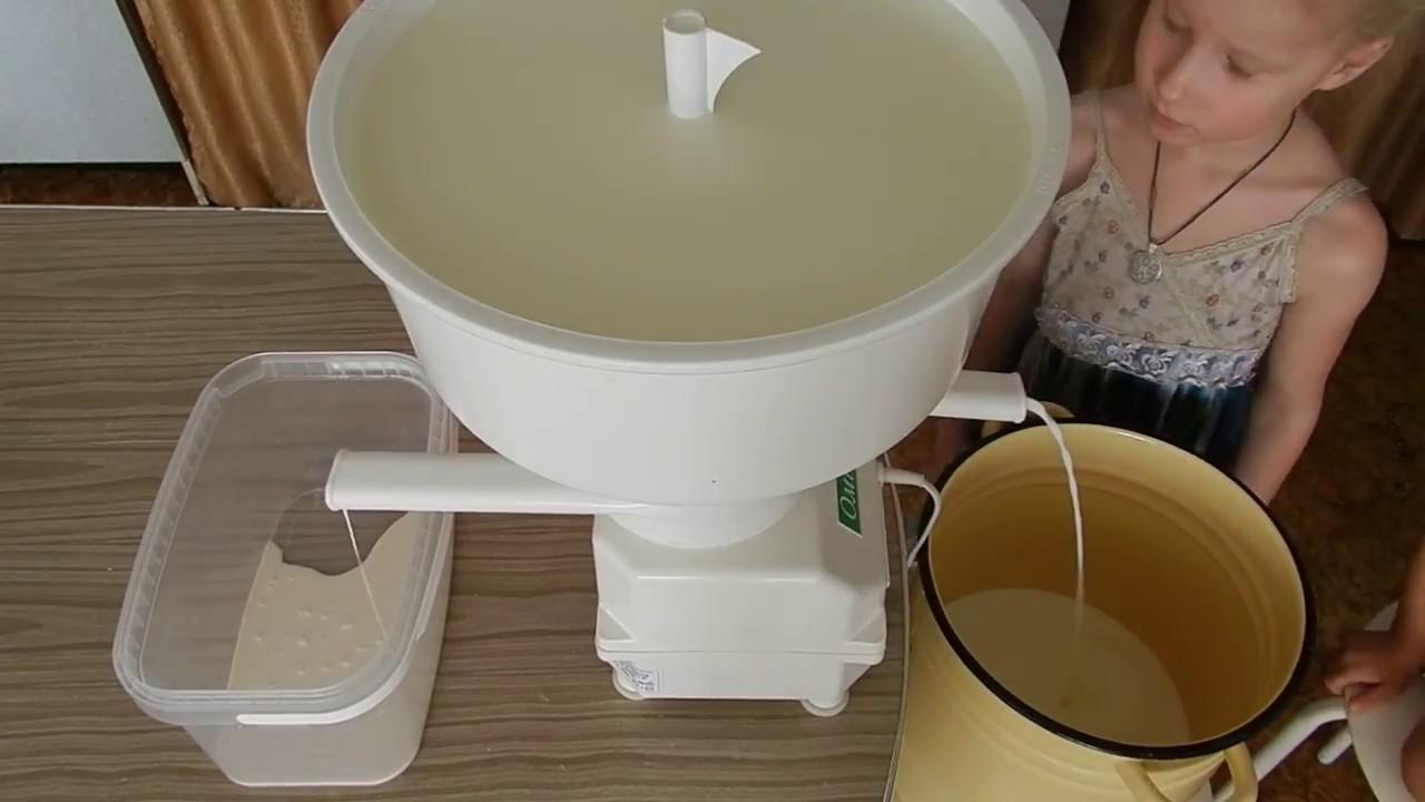 как сепарировать молоко через сепаратор