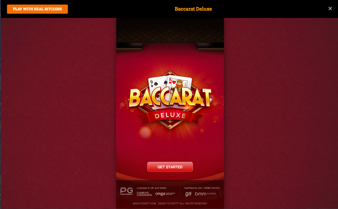 Baccarat Deluxe Game