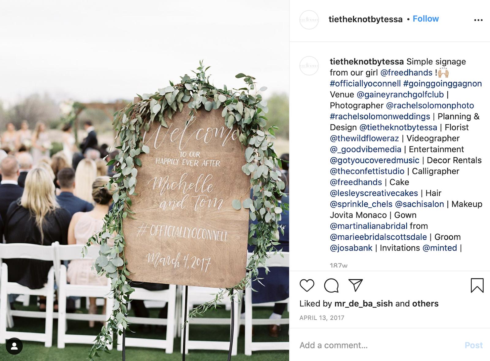 wedding hashtag creator - hashtag being used at the wedding