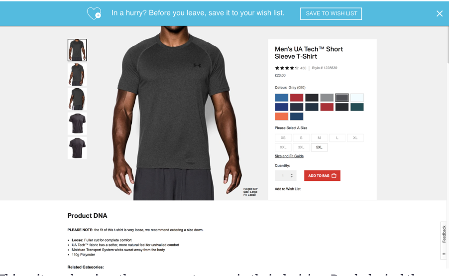 A lot of e-commerce brands are already using the 'Add to Wishlist' feature under each product