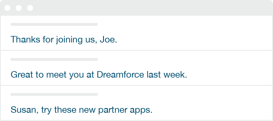 personalized subject lines