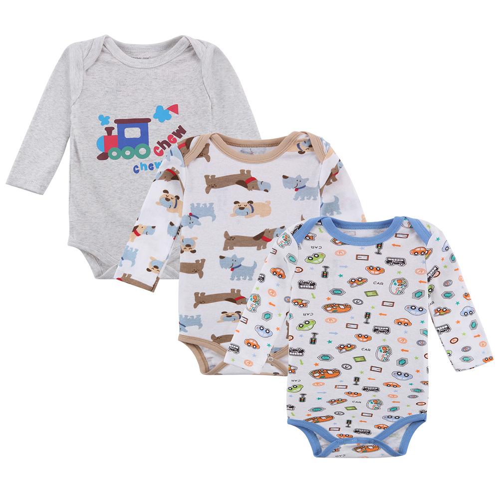 Body niemowlęce wielopak dla chłopca z długim rękawem
