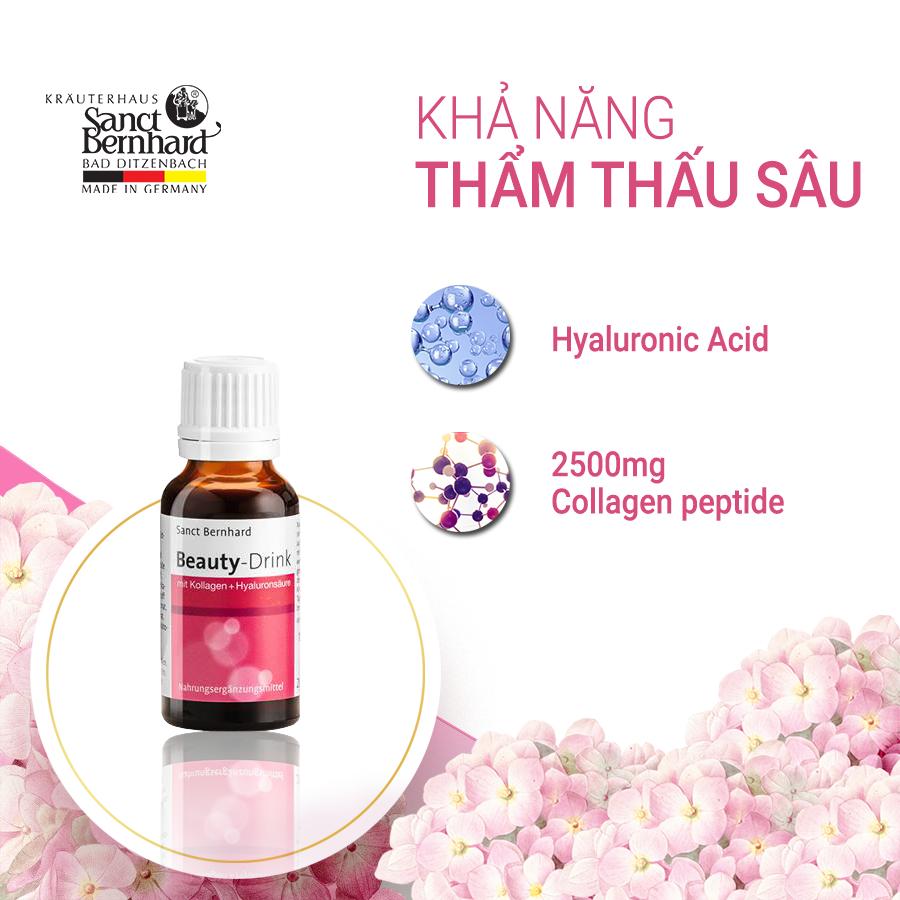 Collagen Beauty Drink - phối hợp Acid Hyaluronic và Collagen