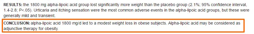 Ácido alfa-lipóico ajuda na perda de peso