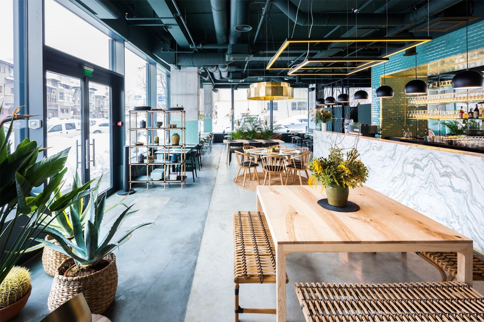 Thiết kế quán cafe đẹp 80m2