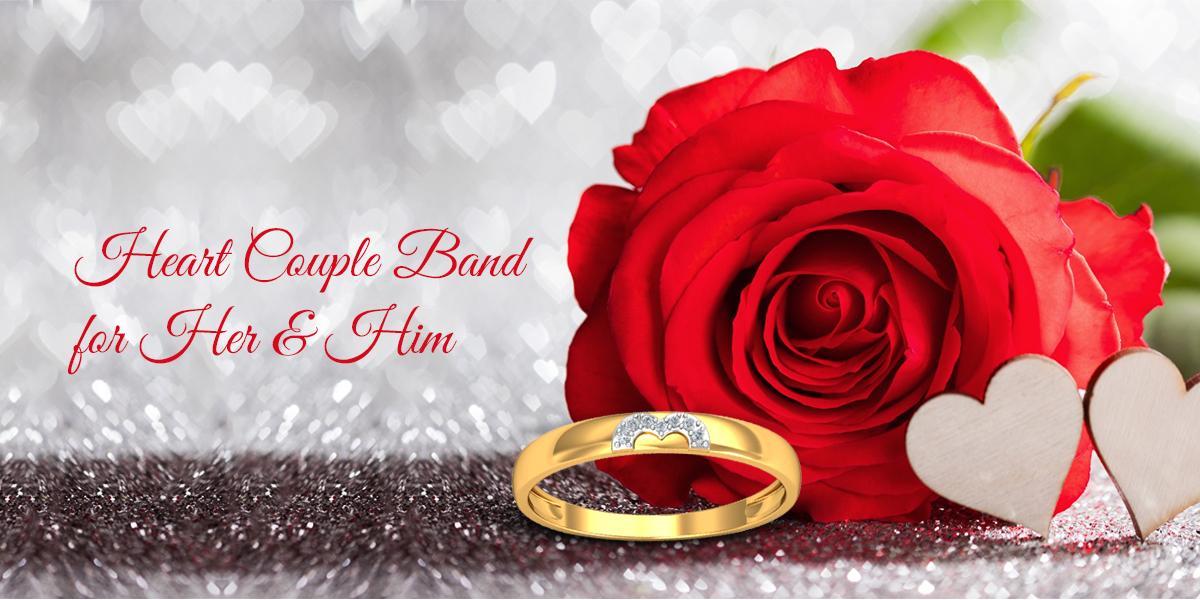 heart couple band - couple jewellery