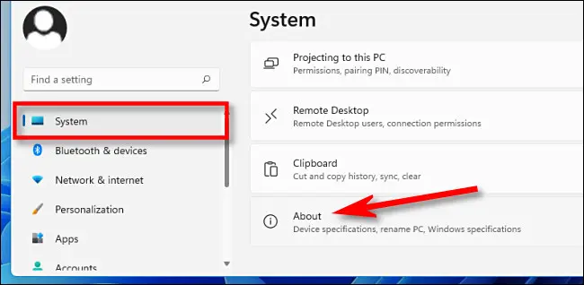 Kiểm tra dung lượng RAM bằng cài đặt Windows