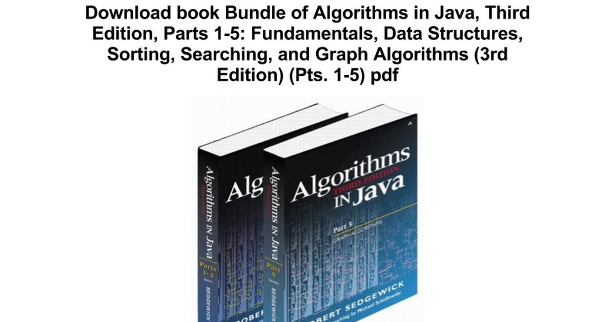 Algorithms In Java Robert Sedgewick Pdf Download Actexperience Ga