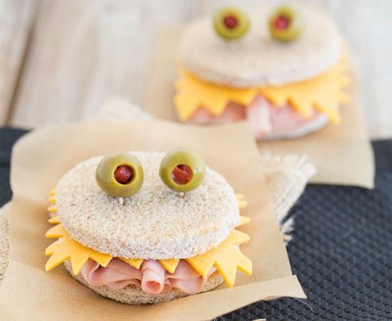 recettes pour enfants : sandwichs en forme de monstres