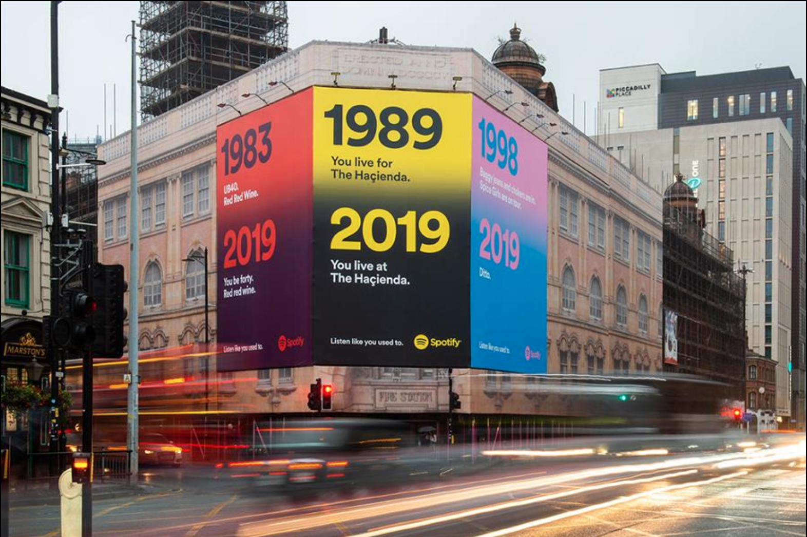 Spotify listen like you used to creative ad campaign