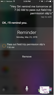 Siri can set reminders for you in the matter of seconds