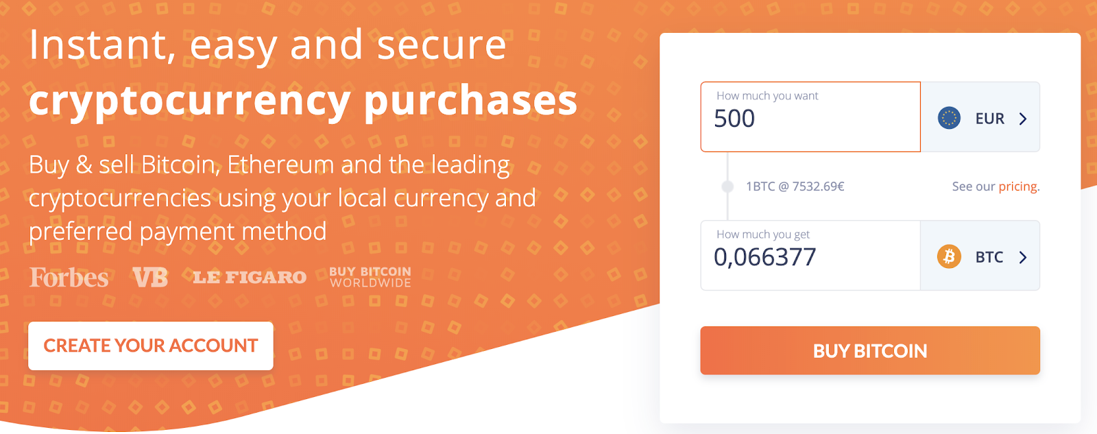 Bitit screenshot - buying many cryptocurrencies instantly