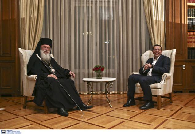 Ο Αρχιεπίσκοπος και ο πρωθυπουργός - Φωτογραφία: Intimenews/ΤΖΑΜΑΡΟΣ ΠΑΝΑΓΙΩΤΗΣ