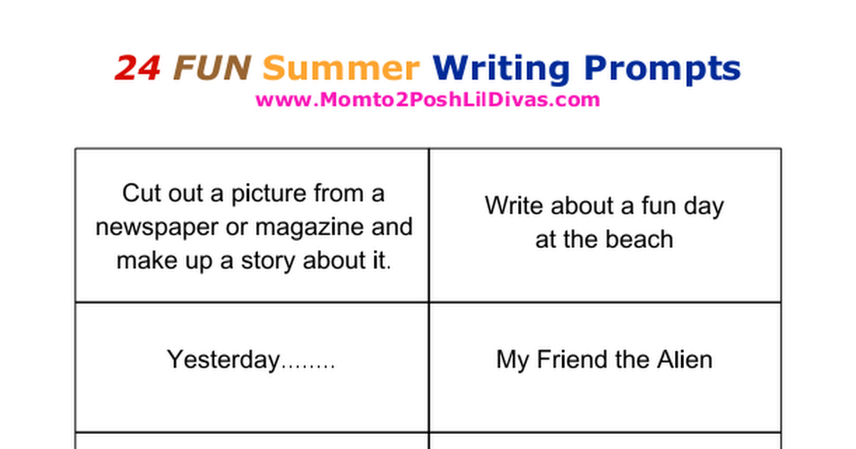 sumer writing Time4writing offers accelerated summer writing workshops for students in elementary, middle during these summer writing classes, your child will review basic writing skills that strengthen their.