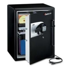 Sentry Safe QE5541: Water Resistant Safe, 2 Ft3, 18-19/32w x 19-5/16d x 23-3/4h, Black / silver