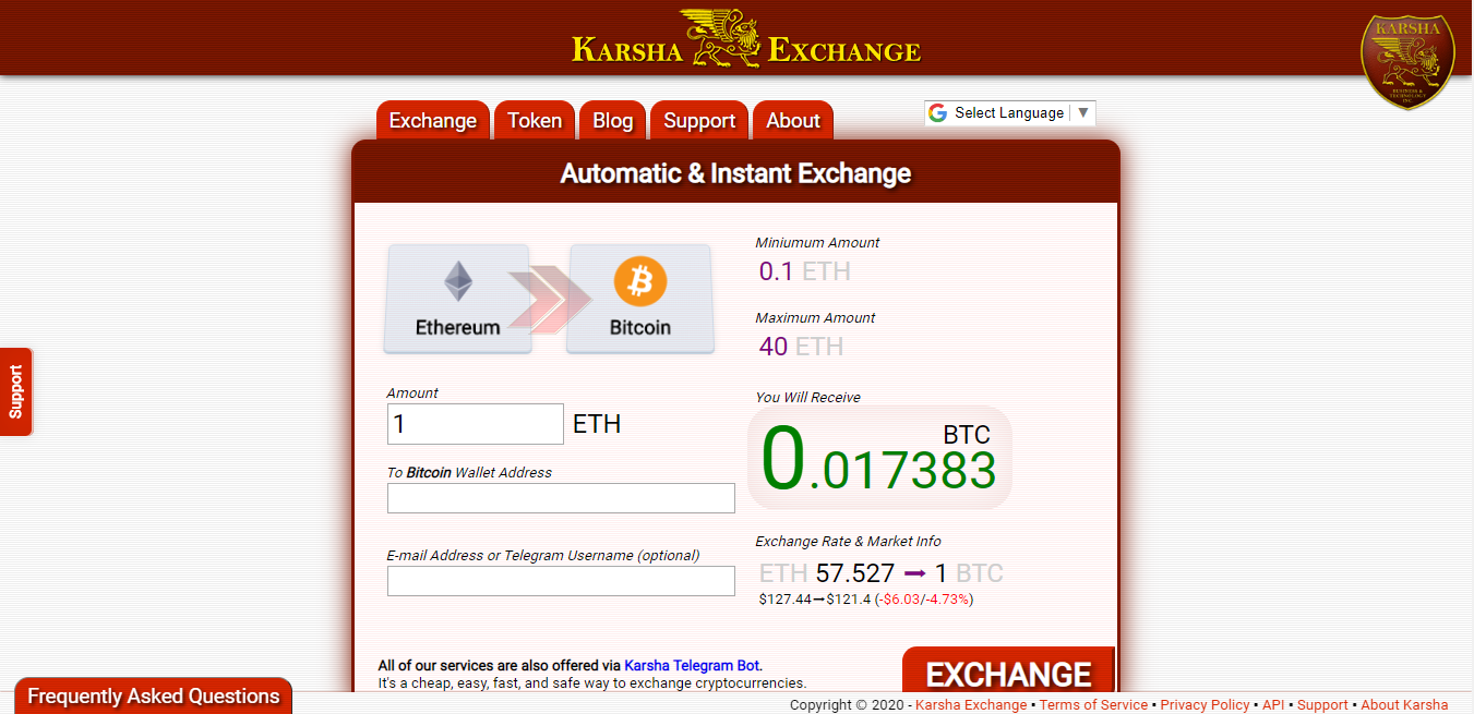 karsha exchange