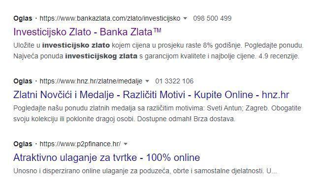 banka zlata oglasi
