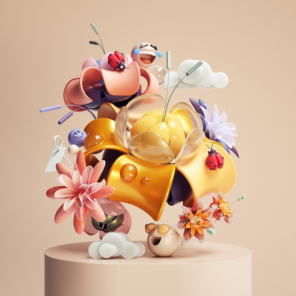 3D Floral Compositions
