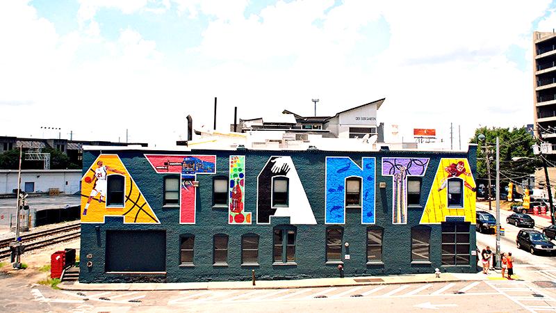 instagrammable wall murals in atlanta