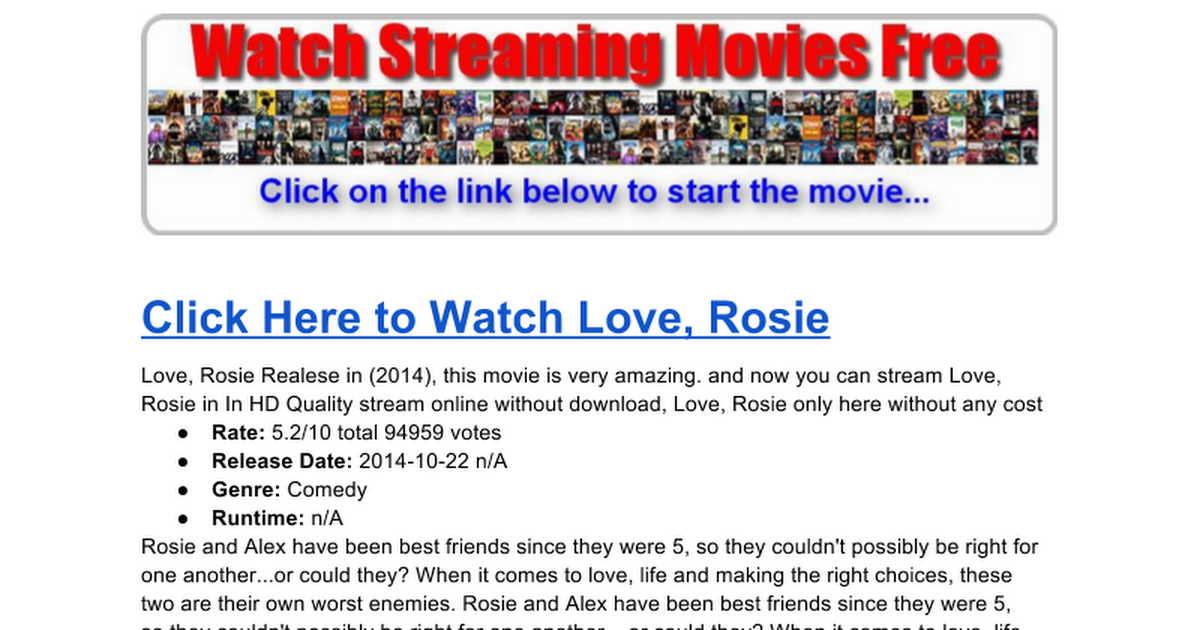 Love Rosie Stream Movie2k
