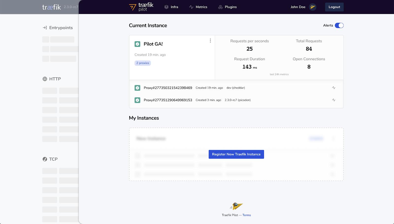 Traefik Pilot Web UI