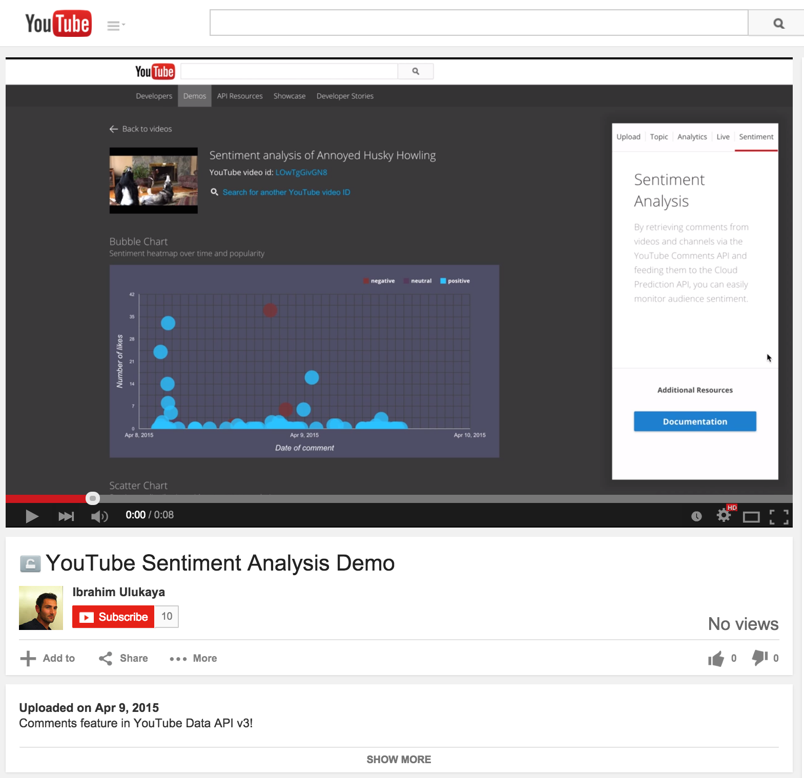 YouTube Sentiment Analysis Demo