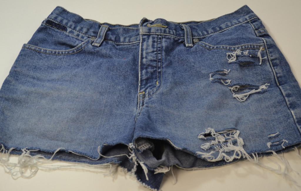 The Horizon Sun : DIY Patterned High Waisted Shorts (No-Sew!)