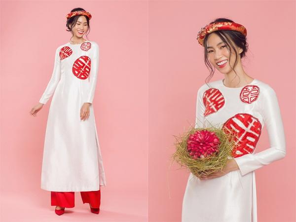 Kiểu áo dài cưới cách tân cũng đang là xu hướng được các bạn trẻ rất chuộng