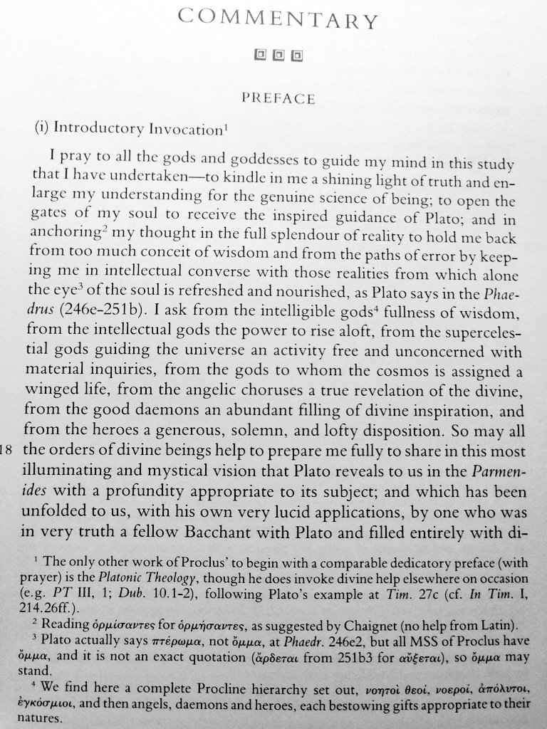 Proclus' opening invocation.