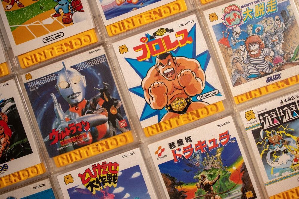 Nintendo game card collection