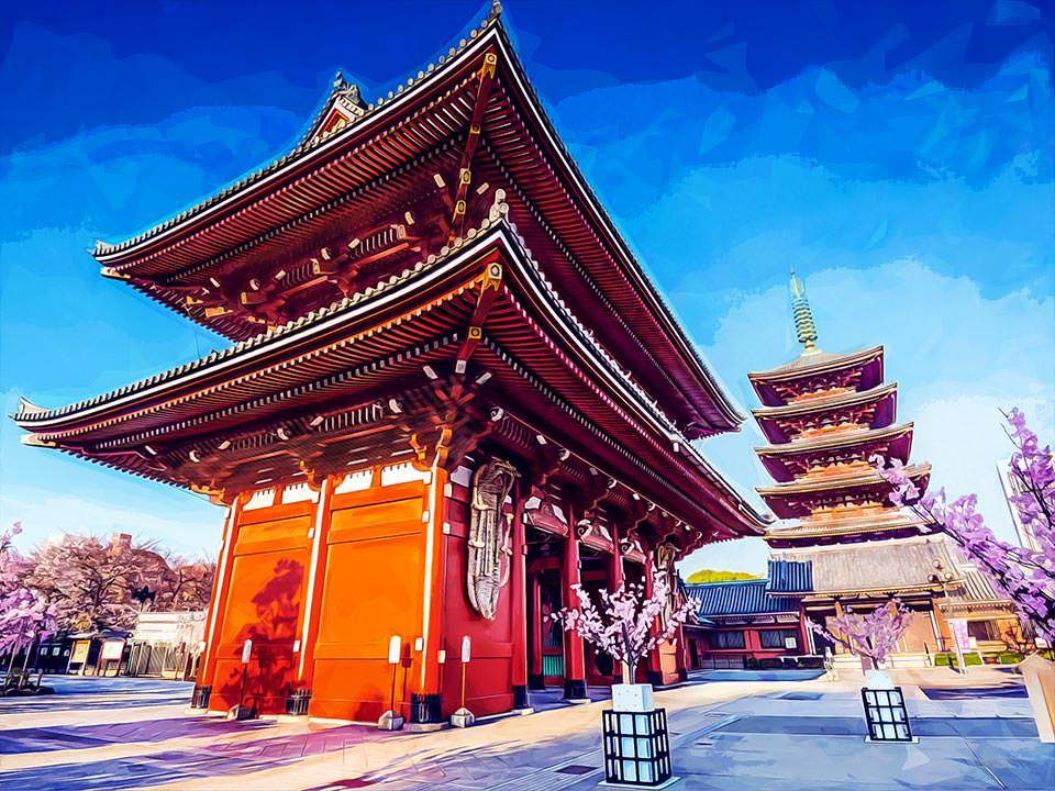 Senso-Ji Temple, Asakusa, Tokoy, Japan