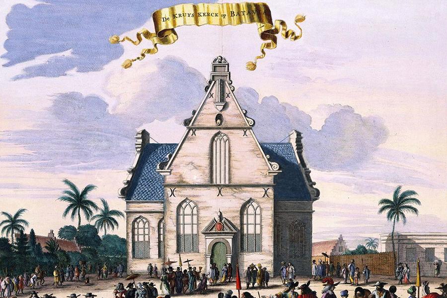 Lukisan Gedung De Hollandsche Kerk
