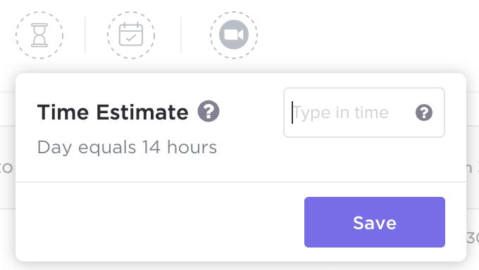 click up time estimate