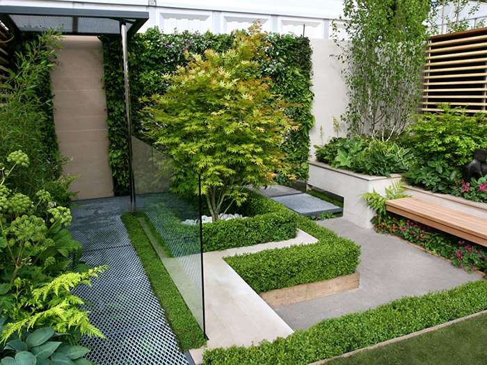 محوطه سازی فضای سبز در مشهد