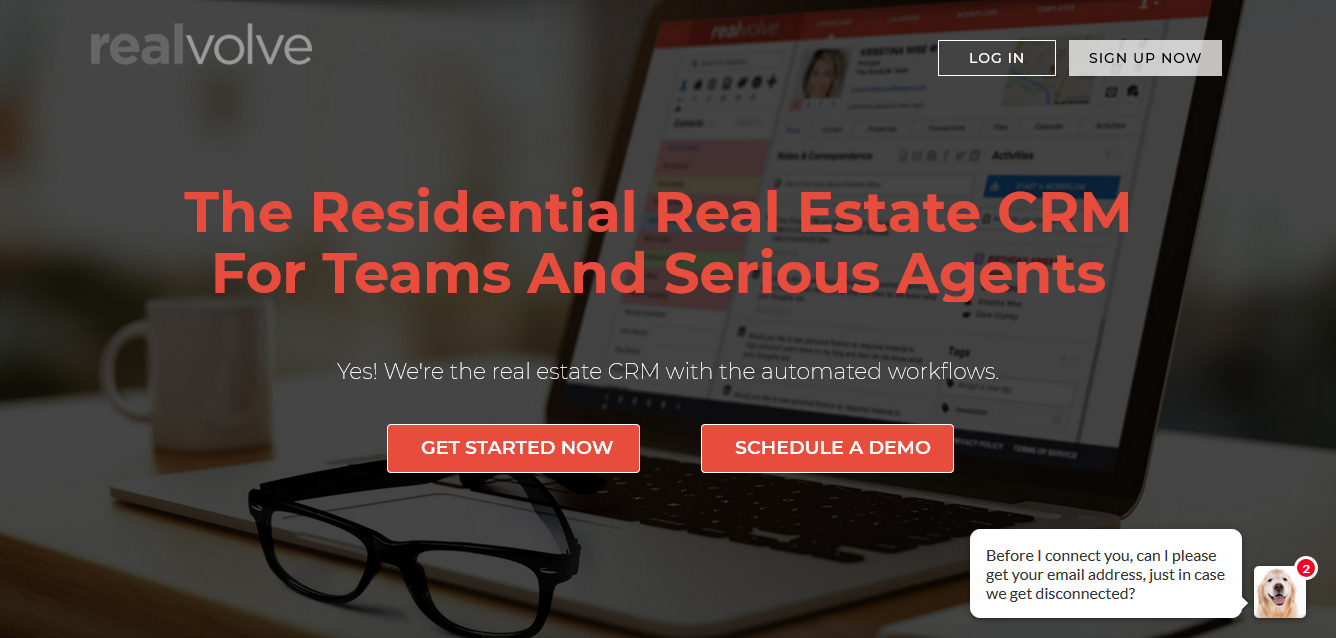 Realvolve CRM for residential real estate team and agents
