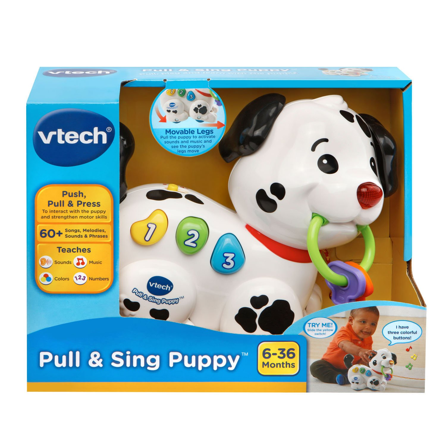 VTech Pull and Sing Puppy Toys  For Kids and Fast Free Shipping