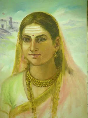 This image contains picture of Kittur Rani Chennamma of Kittur Fort