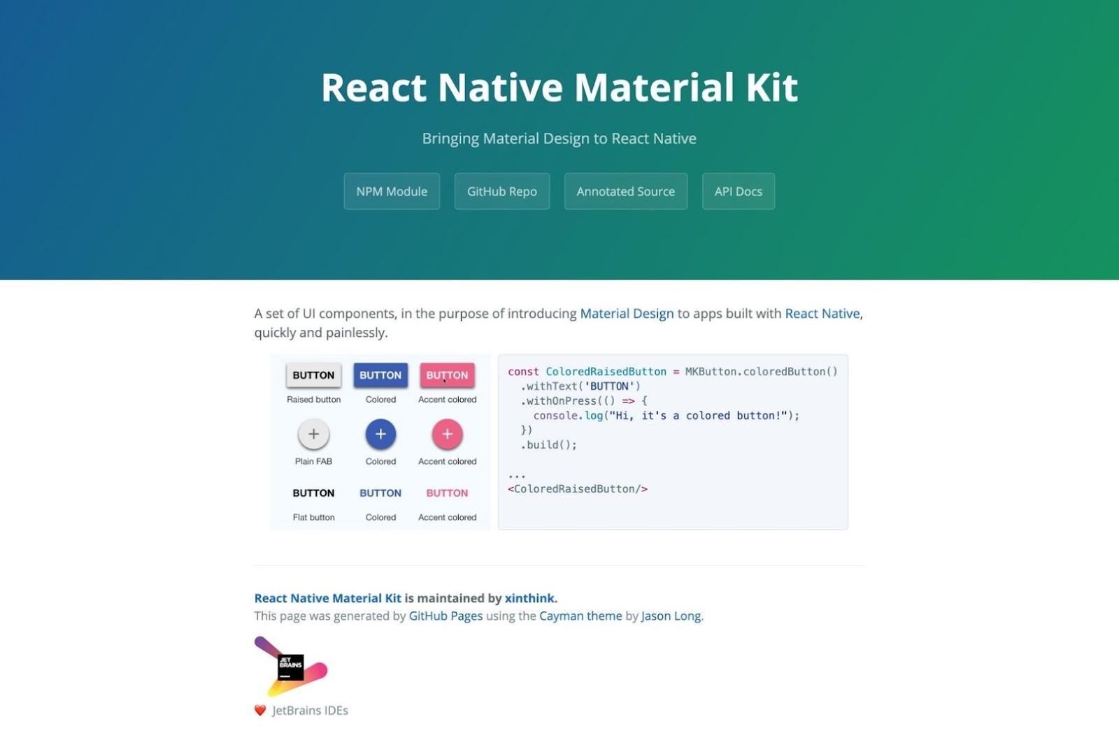 React Native Material Kit React Native UI Libraries