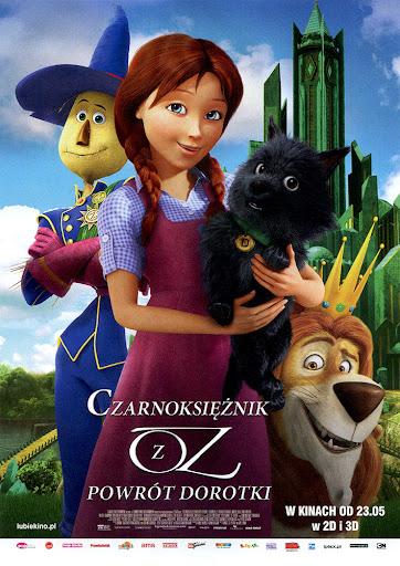 Przód ulotki filmu 'Czarnoksiężnik Z Oz: Powrót Dorotki'