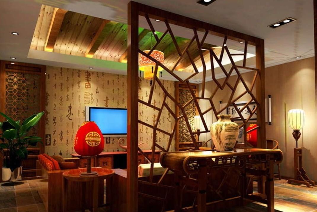 Vách ngăn gỗ tự nhiên thiết kế độc đáo