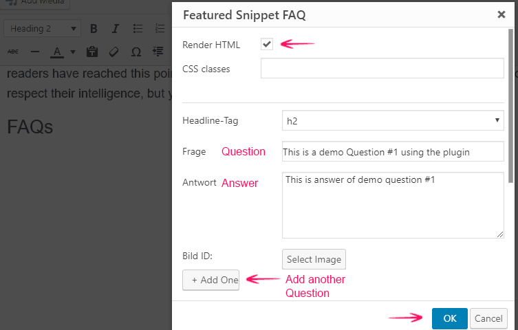 More Frequently Asked Questions in WordPress Classic Editor