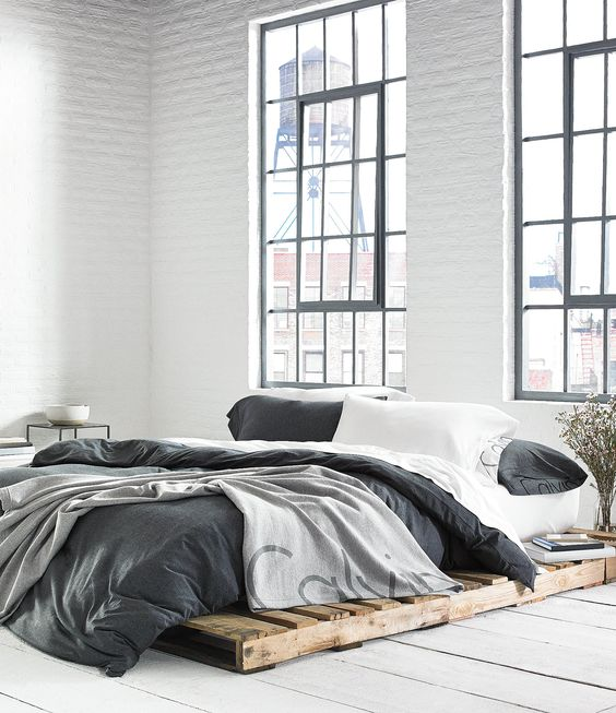 Brighten up Your Gray and White Bedroom with Natural Light