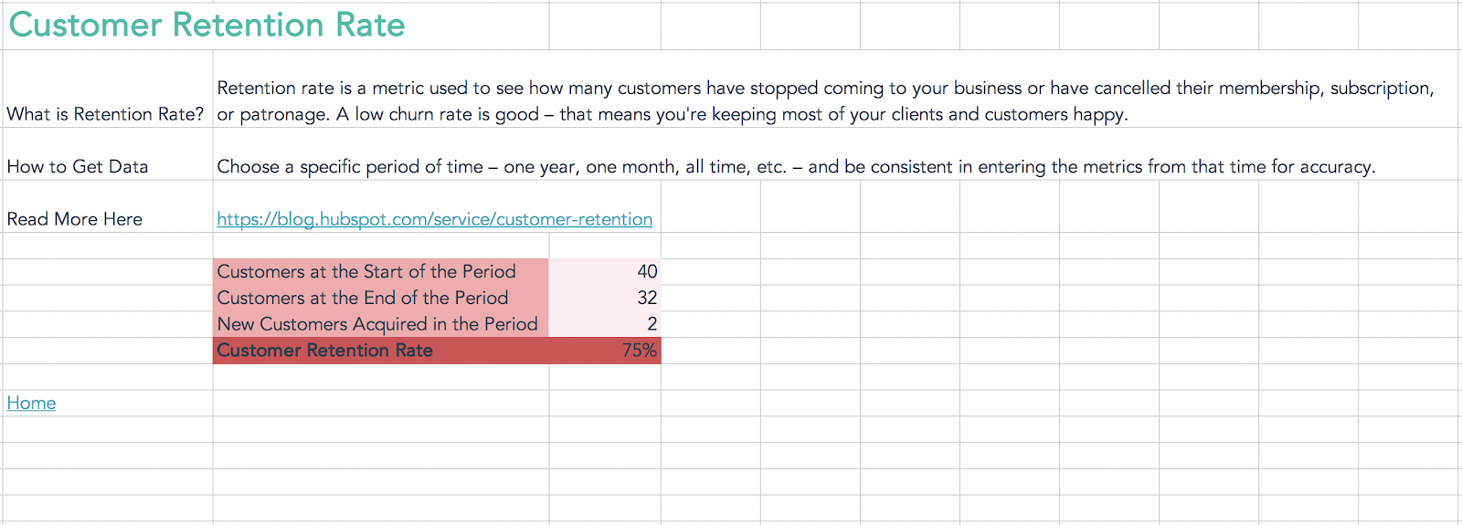 Customer-retention-calculator